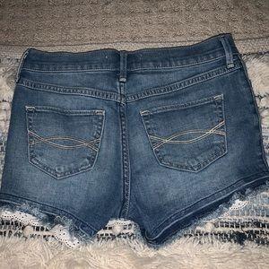 dark blue jean shorts girls